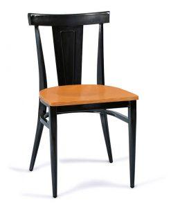 DAKOTA-silla-acero-negro-envejecido-asiento-madera-laminado
