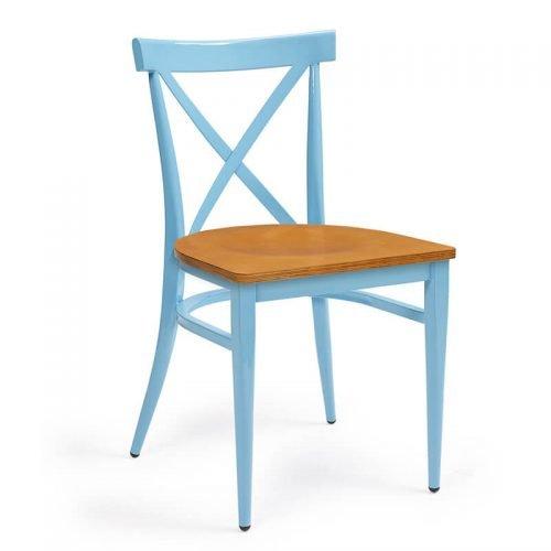 ORLANDO-silla-acero-pintado-celeste-asiento-madera-laminado