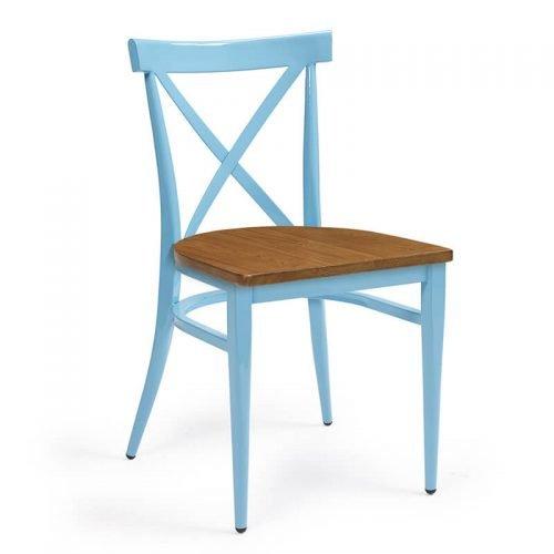 ORLANDO-silla-acero-pintado-celeste-asiento-madera-macizo