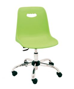 silla-giratoria-infantil-modelo-venecia-color-verde-base-cromada
