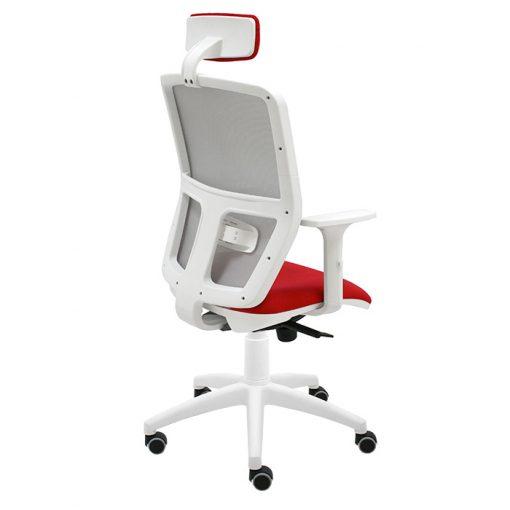 silla-giratoria-keempat-blanco-malla-gris-asiento-rojo-con-brazos-con-cabezal-1