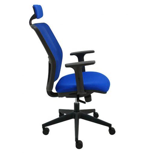 silla-giratoria-keempat-oficina-malla-azul-asiento-azul-cabezal-brazos-regulables