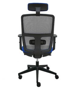 silla-giratoria-keempat-oficina-malla-gris-asiento-azul-cabezal-trasera