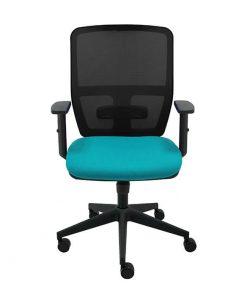 silla-giratoria-keempat-oficina-malla-negra-asiento-turquesa