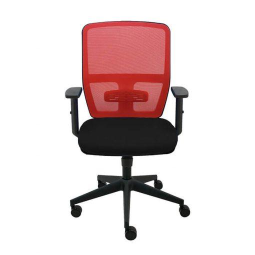 silla-giratoria-keempat-oficina-malla-roja-asiento-negro