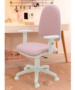 silla-oficina-con-ruedas-blanca-y-rosa-torino