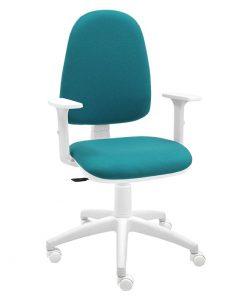 silla-escritorio-torino-blanca-bali-turquesa-con-brazos