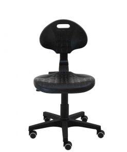 silla-giratoria-de-trabajo-Work-poliuretano-inyectado-con-ruedas-de-goma-negra-frente
