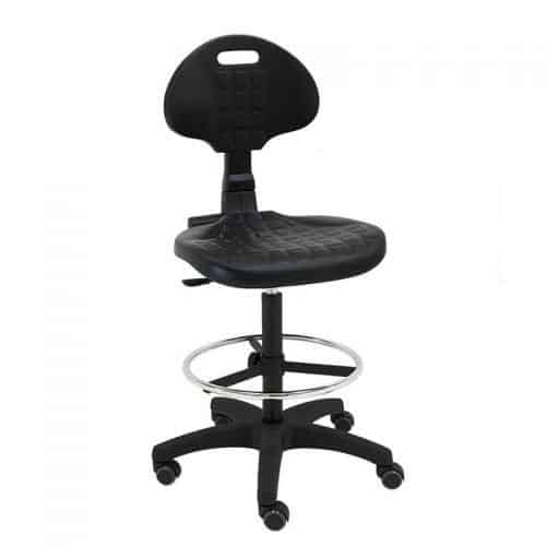 taburete-giratorio-trabajo-Work-para-laboratorios,-talleres,-ruedas-de-goma-negro-inclinado