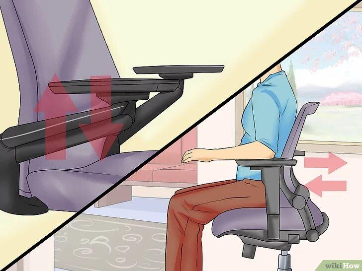 silla de oficina con reposabrazos regulables