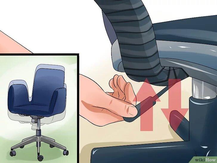 silla de oficina con asiento regulable en altura
