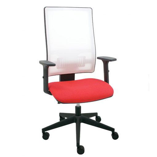 silla-giratoria-oficina-passion-malla-blanca-asiento-bali-rojo
