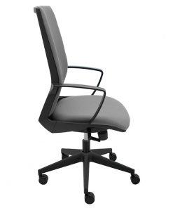sillon-giratorio-ergonomico-i70-tapizado-gris