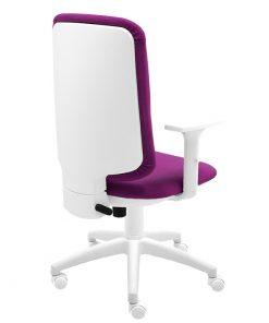 silla-giratoria-eve-frontal-bali-magenta-base-blanca