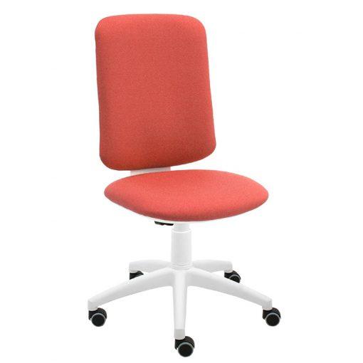silla-giratoria-eve-frontal-coral-base-blanca-ruedas-goma