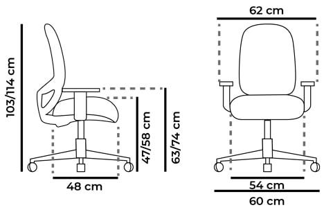 medidas-silla-blanca-para-ordenador-Andy