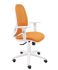 silla-giratoria-andy-teletrabajo-oficina-malla-naranja-bali-naranja