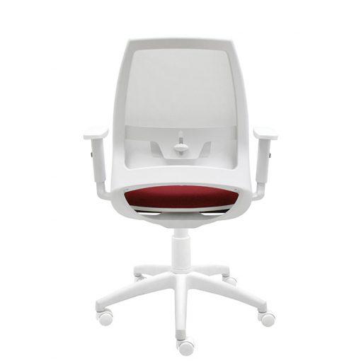 silla-giratoria-de-oficina-4u-malla-blanca-asiento-burdeos-con-brazos-regulables