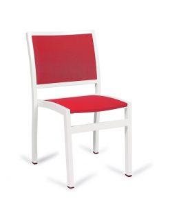 EROS silla aluminio textil hostelería.