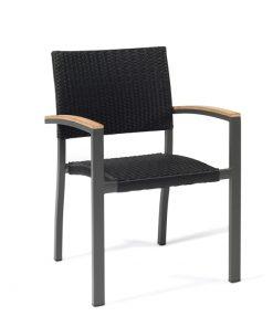 EROS sillón aluminio pintado medula negro