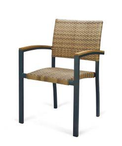EROS sillón aluminio ratán hostelería