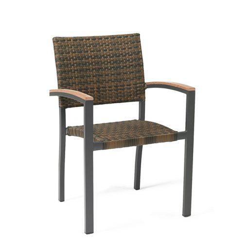 EROS sillón aluminio ratán sintético