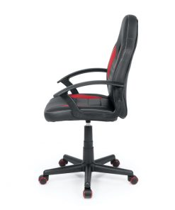 silla jugar ordenador roja y negra
