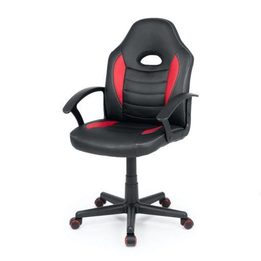 silla gamer con ruedas negra y roja