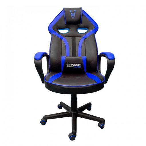 silla-jugar-ordenador-azul-frontal