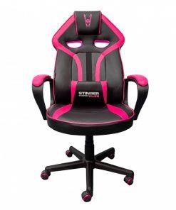 silla-gamer-rosa-negra-frontal
