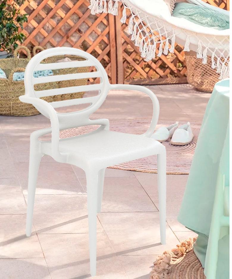 silla italiana de exterior para hostelería Cokka